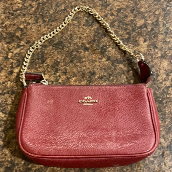 Coach small red purse